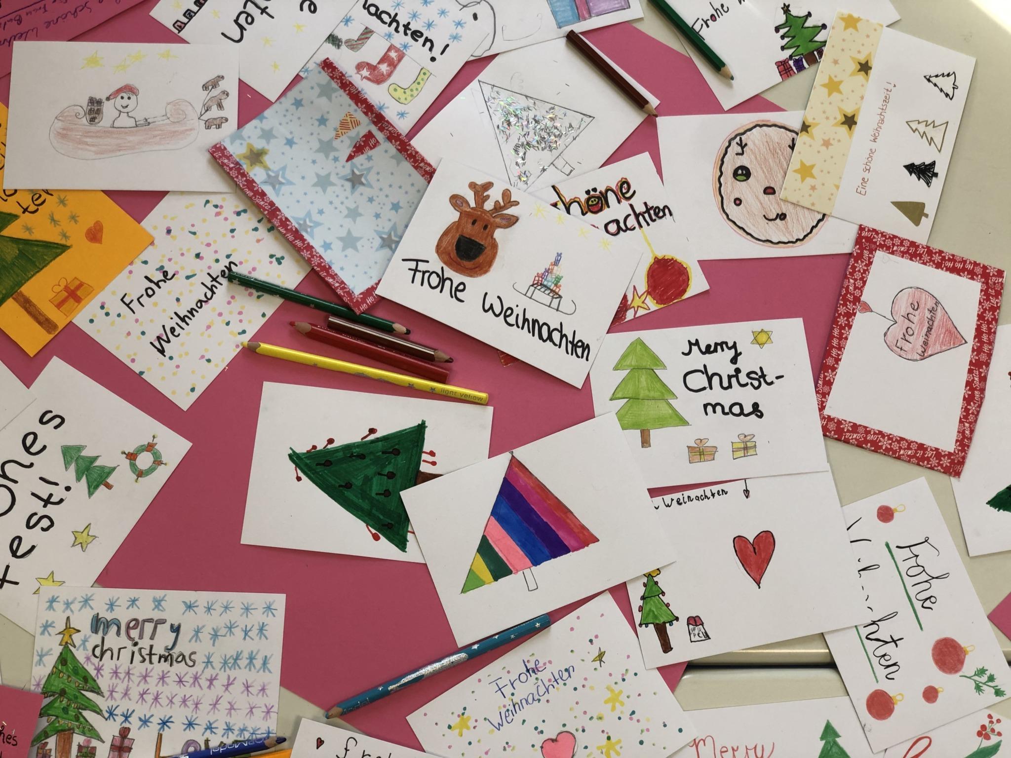 Weihnachtskarten für Senioren